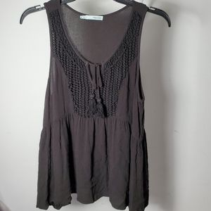 Maurices Womens Tank Top Tunic Sheer Black, M